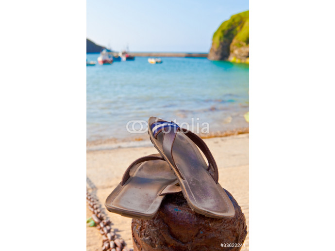 Summer concept, sandals by the beach 64238