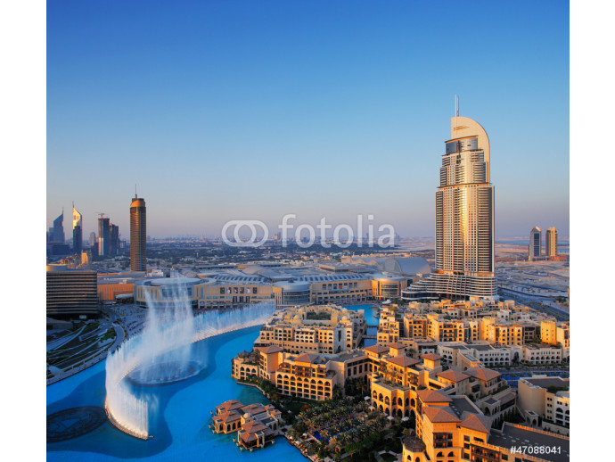 Downtown Dubai with its famous dancing water fountain 64238