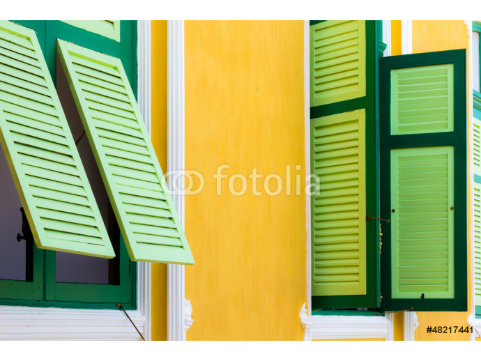 Wooden classic colourful windows 64238
