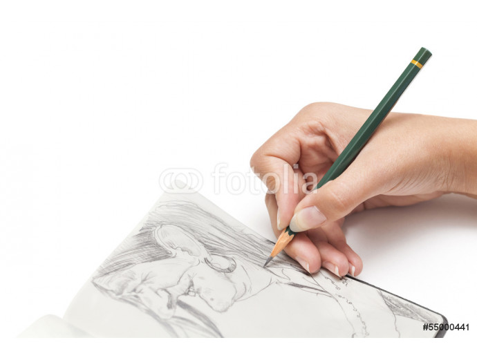 female designer drawing a character 64238