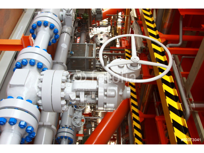 Oil and gas processing plant with pipe line valves 64238