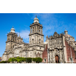 Detail view of Cathedral Metropolitana in Mexico city 64238