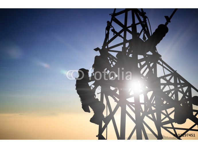 Silhouetteblack man  electrical engineer and electrical workers 64238