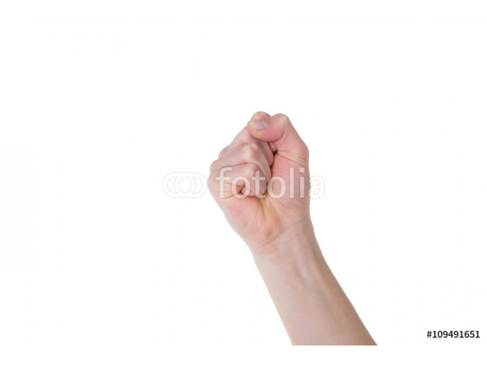Protest fist on a white background 64238