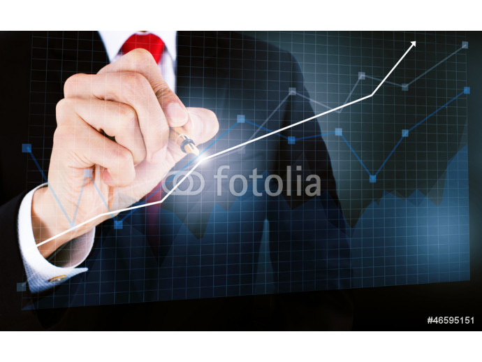 businessmen draw a graph 64238