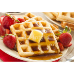 Homemade Belgian Waffles with Fruit 64238