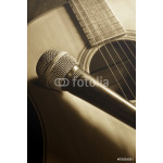 Microphone on acoustic guitar 64238
