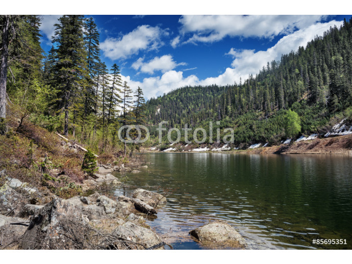 Beautiful lake in the mountains, called Amut. 64238