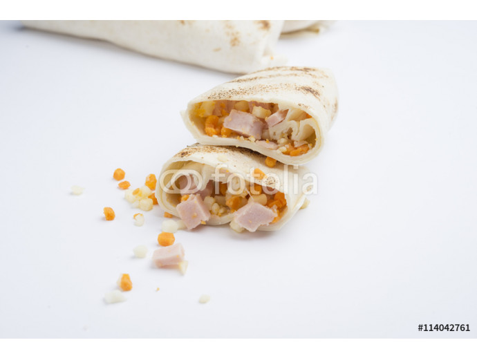 mexican burritos isolated on a white background 64238