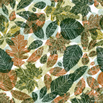Different leaves seamless pattern. 64238