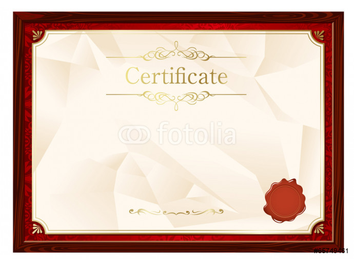 retro frame certificate template Vector 64238