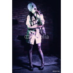 Crazy dead Silent Hill nurse with knife in hand 64238