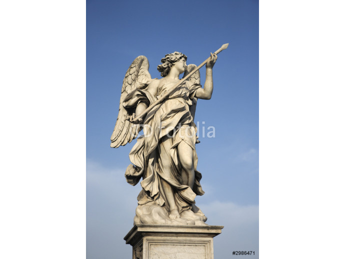 Angel sculpture in Rome, Italy. 64238