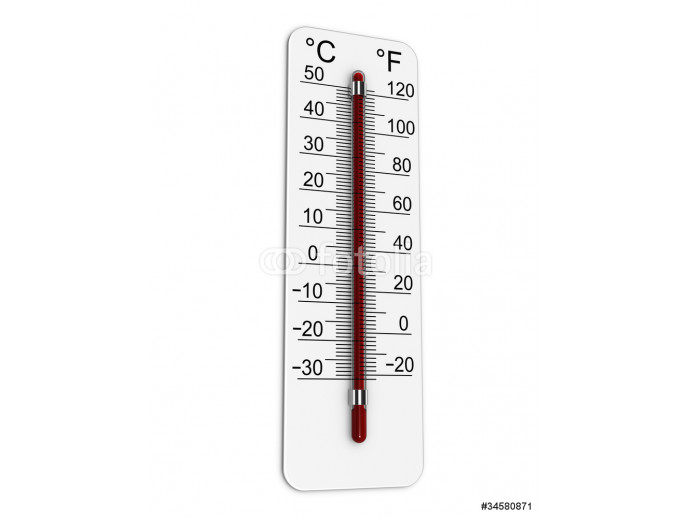 Thermometer indicates extremely high temperature 64238