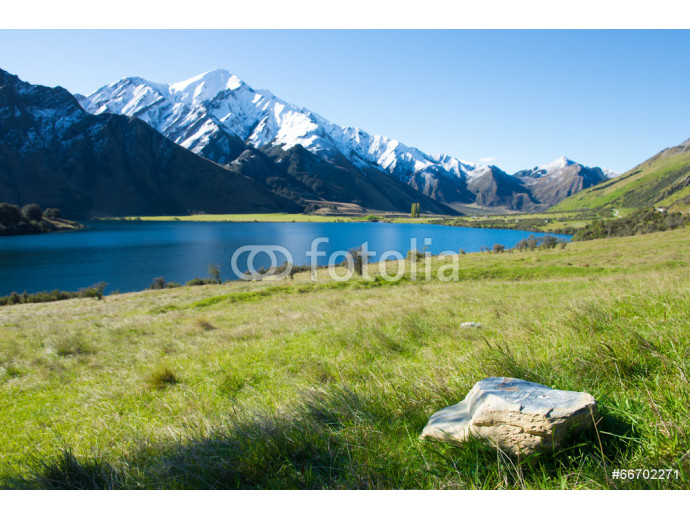 View of Moke Lake near Queenstown New Zealand 64238