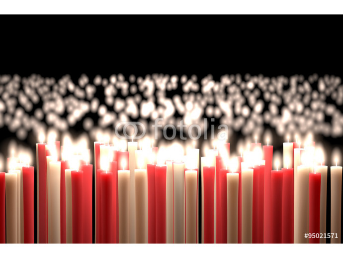 Candlelight, Red & White Candles 64238
