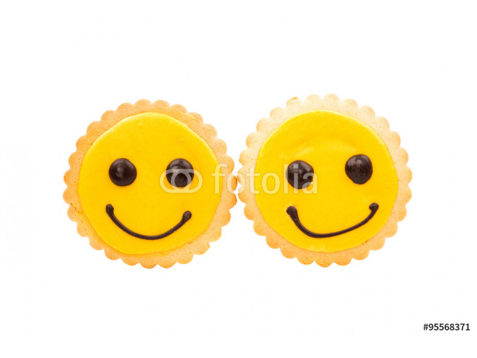 Yellow Smiley biscuit 64238