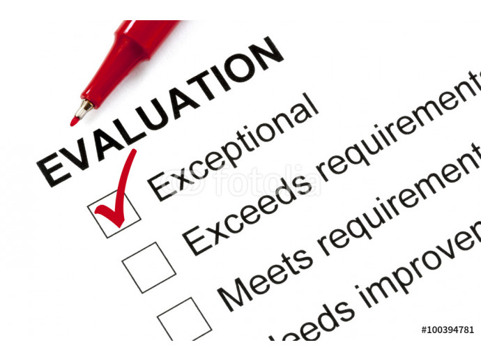 Evaluation Form Marked Exceptional 64238
