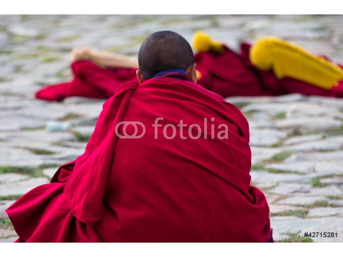 Buddhist monks at a ceremony, Xiahe, China 64238