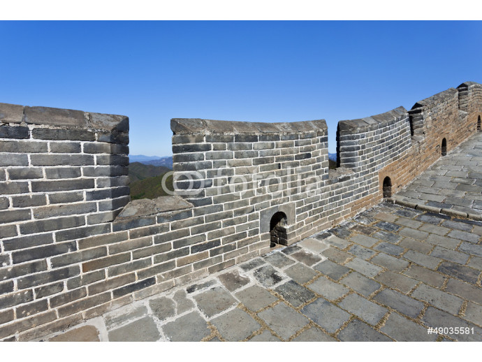 Battlements and bricks in Great Wall China 64238