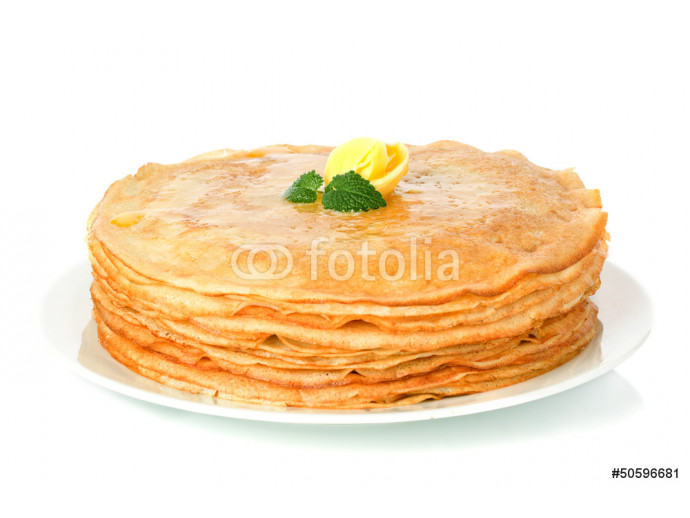 stack of pancakes. crepes with with butter 64238