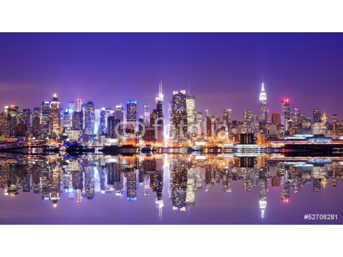Photo wallpaper Manhattan Skyline with Reflections 64238