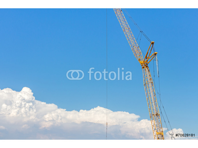 Industrial heavy equipment tower crane above the clouds 64238