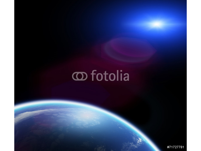 Sunset/sunrise above the Earth on a starless sky. 64238