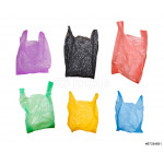 collection of various plastic bags isolated on white background 64238