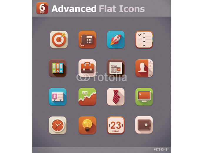 Vector flat business icons 64238
