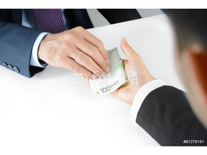 Businessman hands giving & receiving money, Euro currency (EUR) 64238