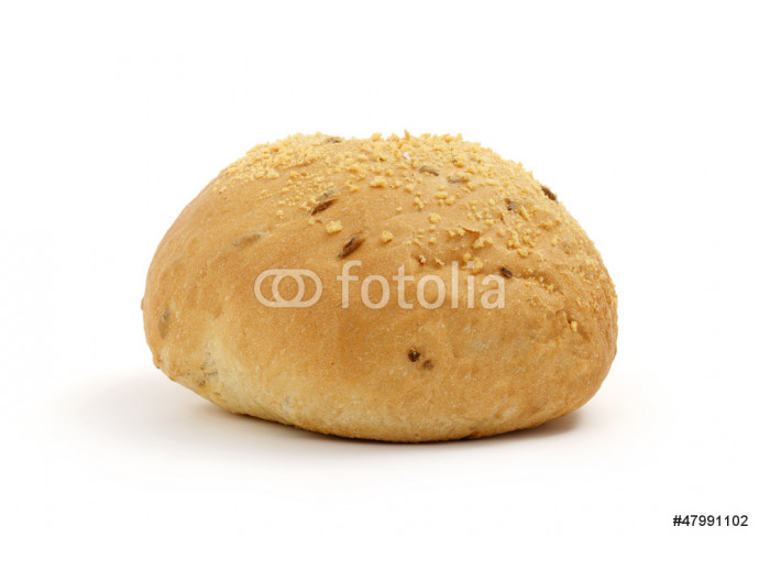 single bread on a white background 64238