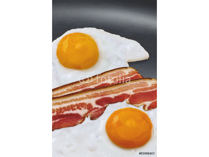 Wallpaper Sunny Side Up Eggs And Bacon Slices In Fry Pan 64238