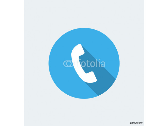 Call - flat design with long shadow 64238