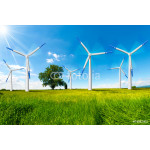 Electric Wind Generators in Countryside 64238