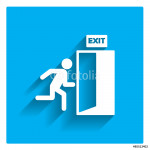 Emergency exit sign 64238