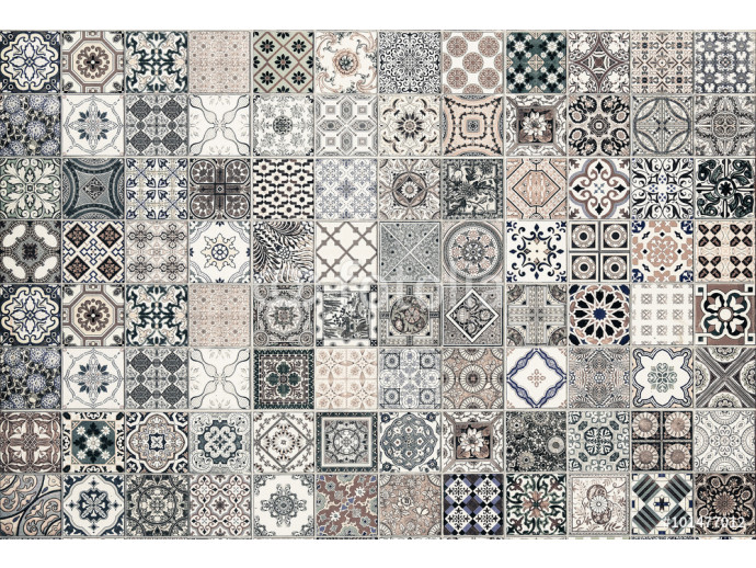 ceramic tiles patterns from Portugal. 64238