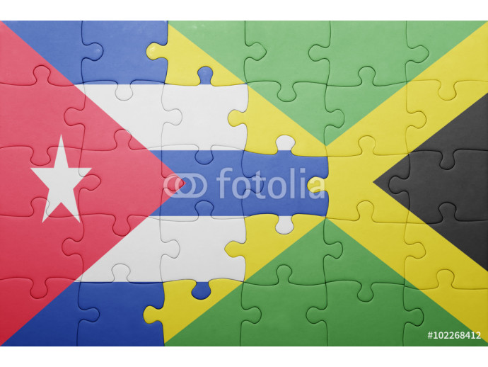 puzzle with the national flag of jamaica and cuba 64238