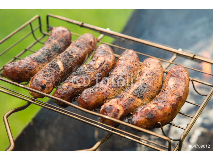 Fototapeta Sausage on the grill 64238