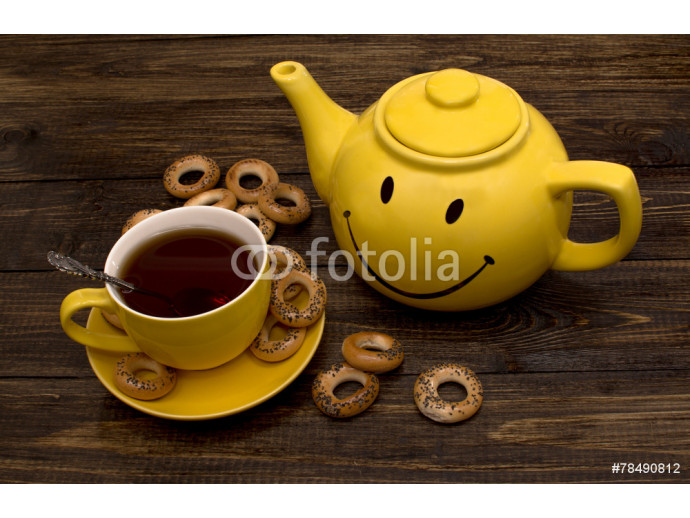 yellow kettle and cup 64238