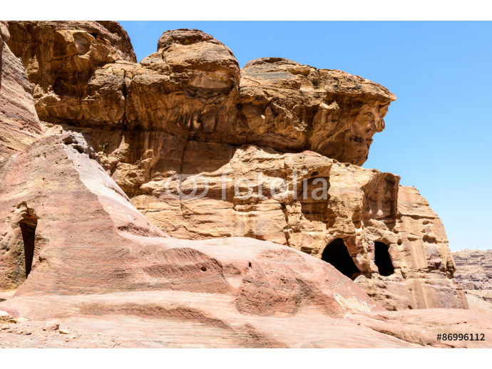 Petra, Jordan. Petra is one of the New Seven Wonders of the World. UNESCO World Heritage 64238