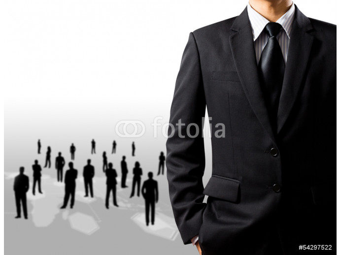 businessman in suit on white background 64238