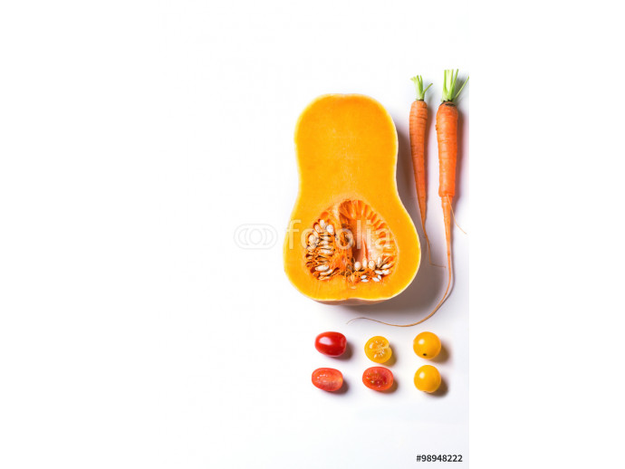 Vliestapete Set of red, orange and yellow vegetables 64238