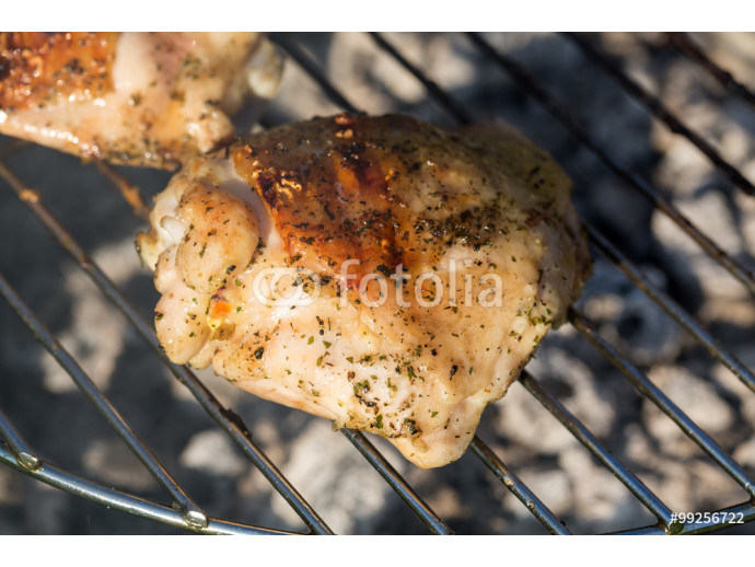 barbecue with delicious grilled meat on grill 64238