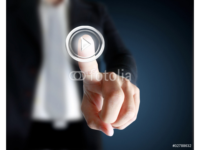 hand pushing on a touch screen interface 64238