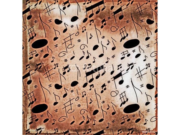 musical notes old grunge pattern 64238
