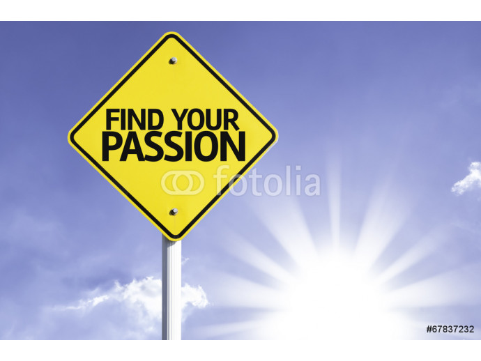 Find your Passion road sign with sun background 64238
