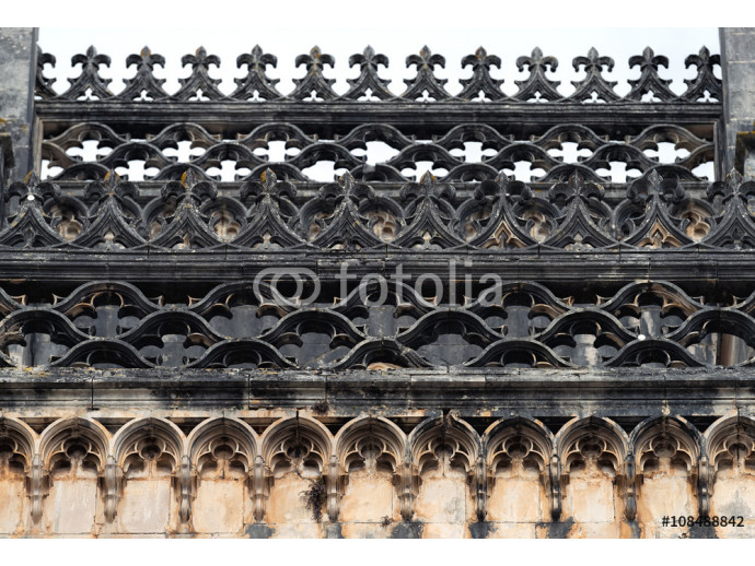 Roof decoration fragment  of the Batalha monastery, Portugal 64238