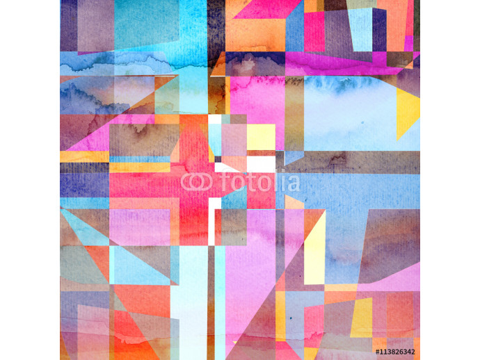 abstract watercolor geometric background 64238