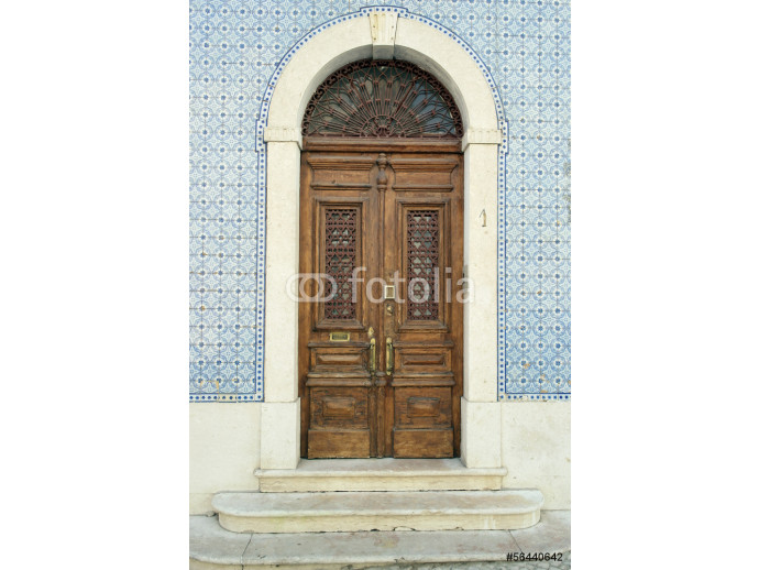 Photo wallpaper Detail of an old door, Lisbon, Portugal 64238